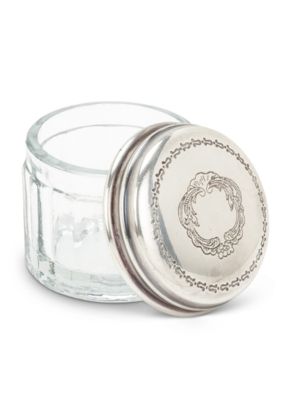 Small Round Jar Engraved Lid