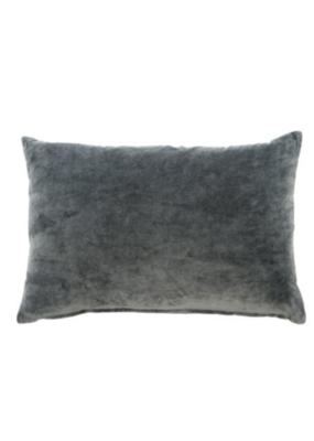 Vera Velvet Cushion Charcoal 16x24