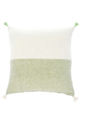 Layla Linen Pillow Green