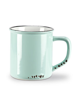 Enamel Look  Mug Mint 14oz