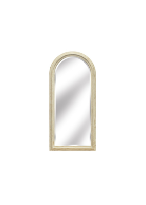 Brown Ash White Washed Arched Mirror