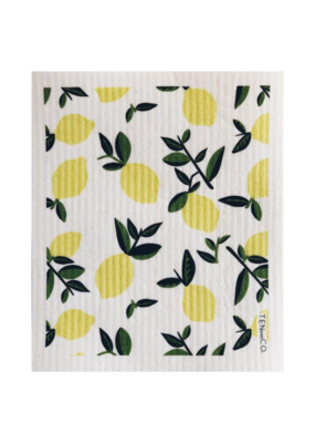 Ten & Co. Swedish Dish Cloth Citrus Lemon
