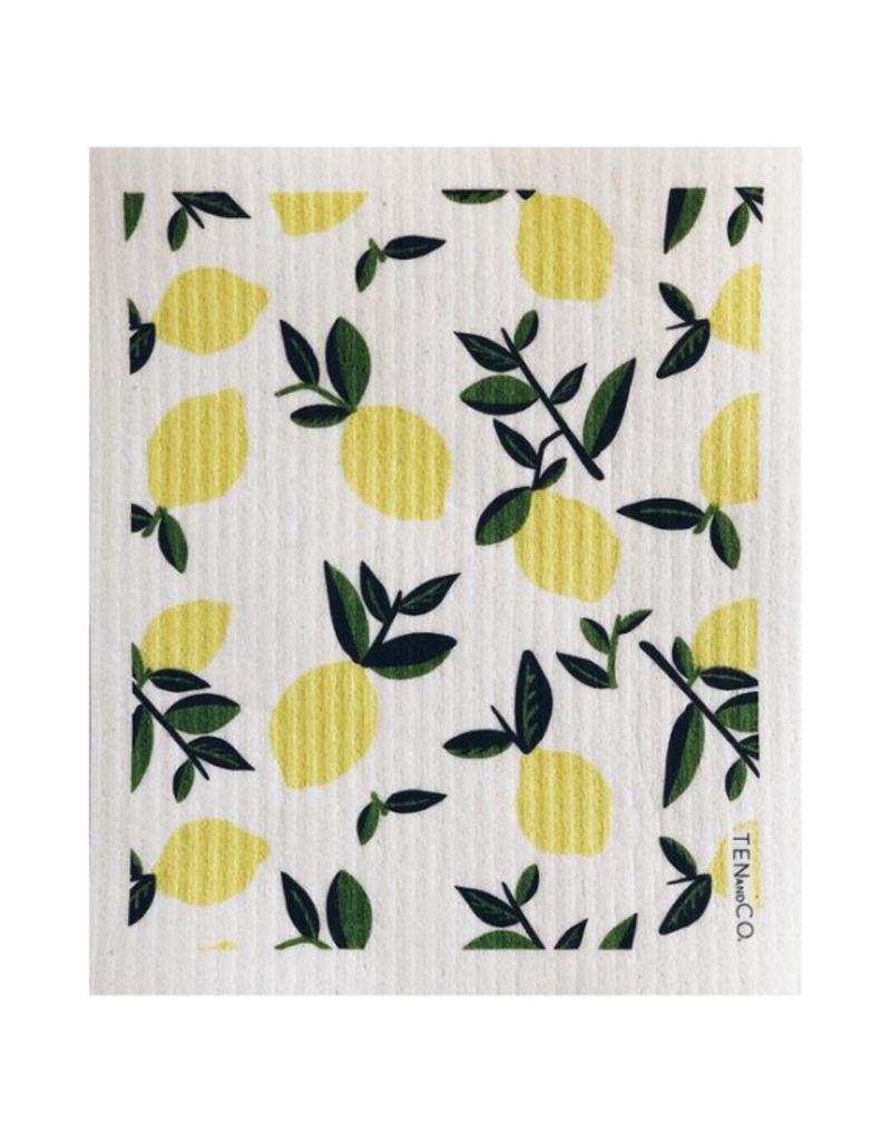 Ten & Co. Swedish Sponge Cloth Citrus Lemon