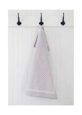 Ten & Co. Ten & Co. Tea Towel Tiny X Grey
