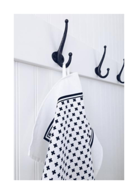 Ten & Co. Ten & Co. Tea Towel Tiny X Black/White