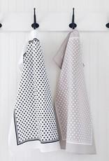 Ten & Co. Ten & Co. Tea Towel Tiny X Black/White