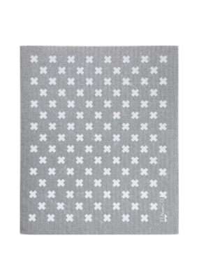 Ten & Co. Ten & Co. Sponge Cloth Tiny X Grey/White