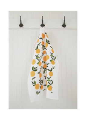 Ten & Co. Ten & Co. Tea Towel Citrus Orange