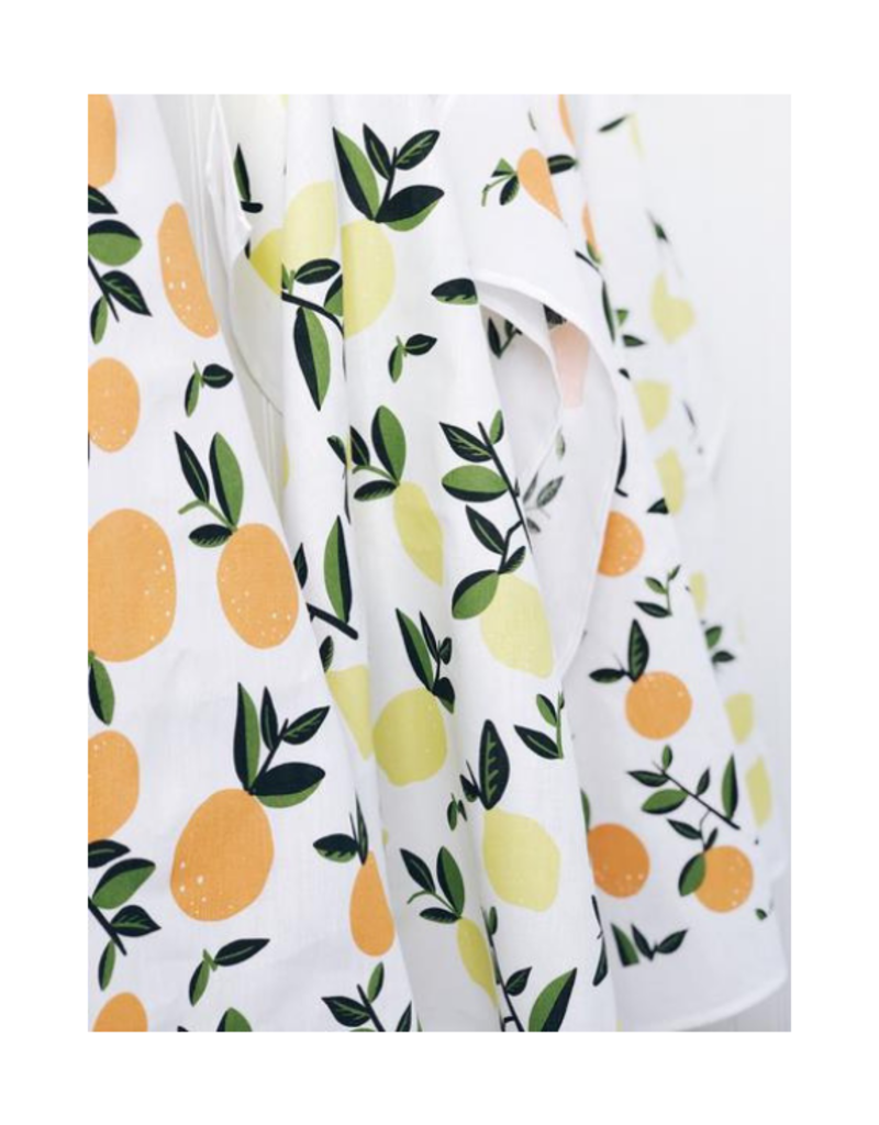 Ten & Co. Ten & Co. Tea Towel Citrus Orange