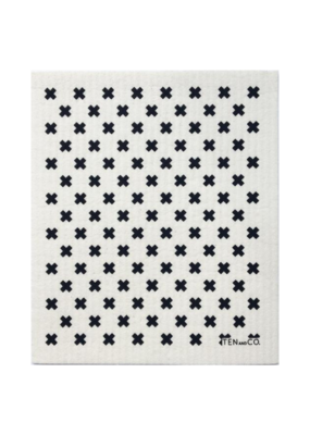 Ten & Co. Swedish Sponge Cloth Tiny X Black