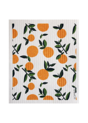 Ten & Co. Swedish DIsh Sponge Cloth Citrus Orange