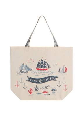 Bag Tote Fish & Ships