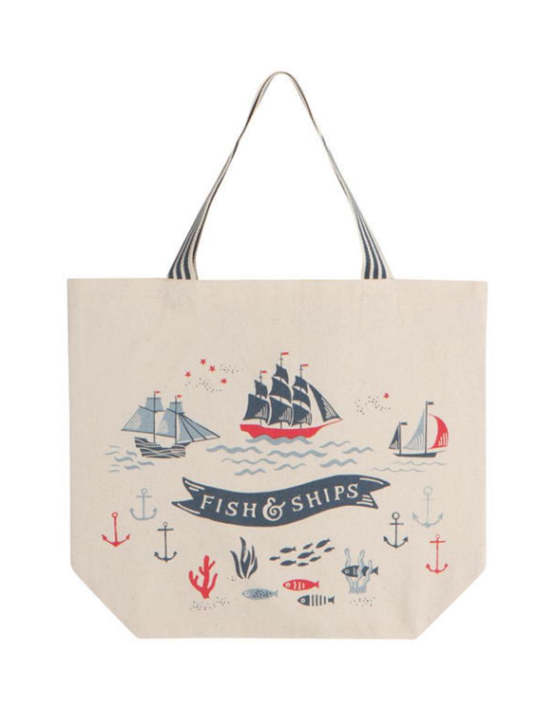 Bag Tote Fish & Ships