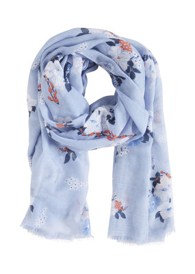 b.young b.young Blue Floral Scarf