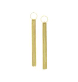 Lover's Tempo Lover's Tempo Earrings Gratzi Fringe Gold