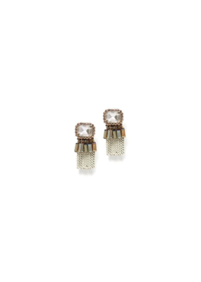 Lover's Tempo Lover's Tempo Earrings Illume Fringe White