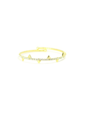 Lover's Tempo LT Bracelet On Point Crystal Bangle Gold