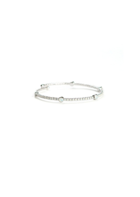 Lover's Tempo LT Bracelet Constellation Bangle Silver & White Opal