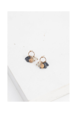 Lover's Tempo LT Jardin Cluster Hoop Earrings  Blue