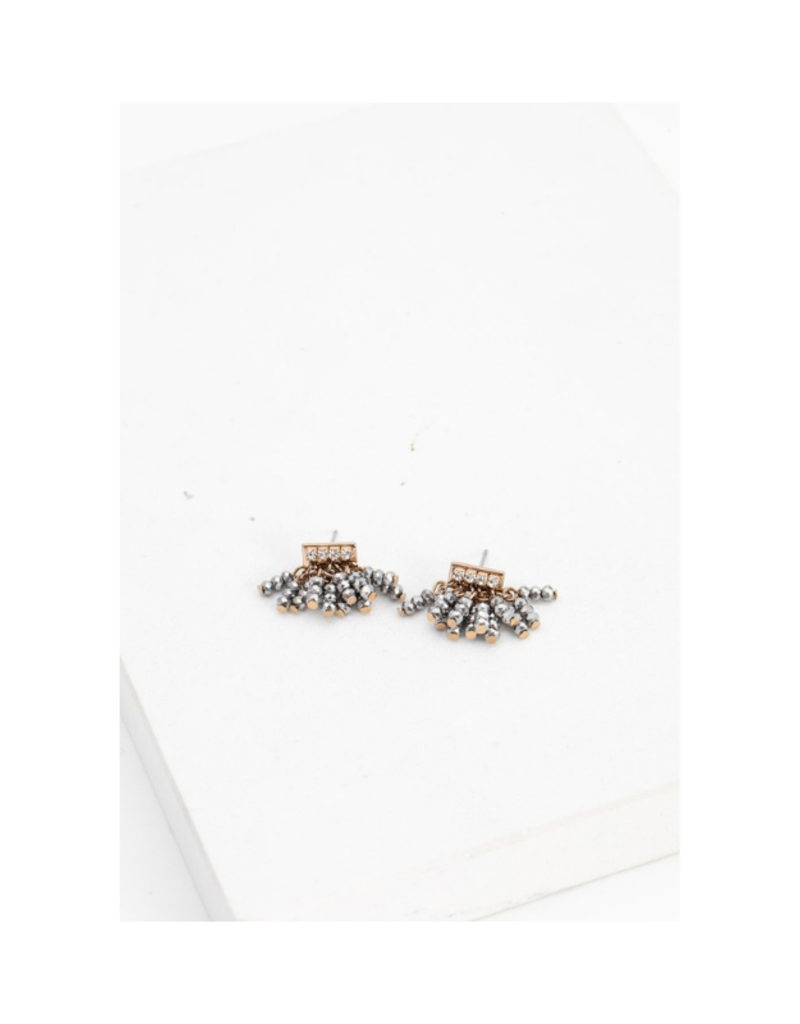 Lover's Tempo Lover's Tempo Triumph Beaded Post Earring Silver