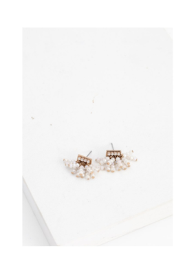 Lover's Tempo Lover's Tempo Triumph Beaded Post Earring White