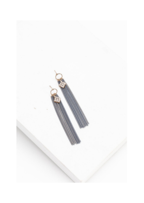 Lover's Tempo LT Siene Fringe Earrings Blue