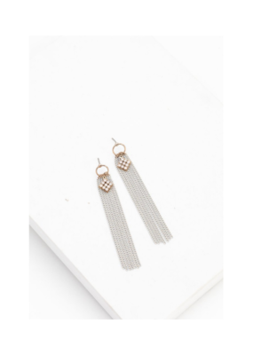 Lover's Tempo LT Siene Fringe Earrings White