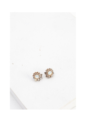 Lover's Tempo LT Amelia Crystal Post Earring, White Opal