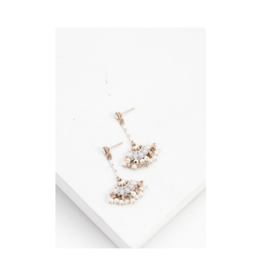 Lover's Tempo Lover's Tempo Magnolia Fan Drop Earrings, White