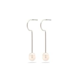PILGRIM PILGRIM Earrings Silver White 261926063