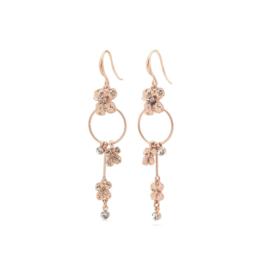 PILGRIM PILGRIM Justine Earrings Rose Gold Crystal