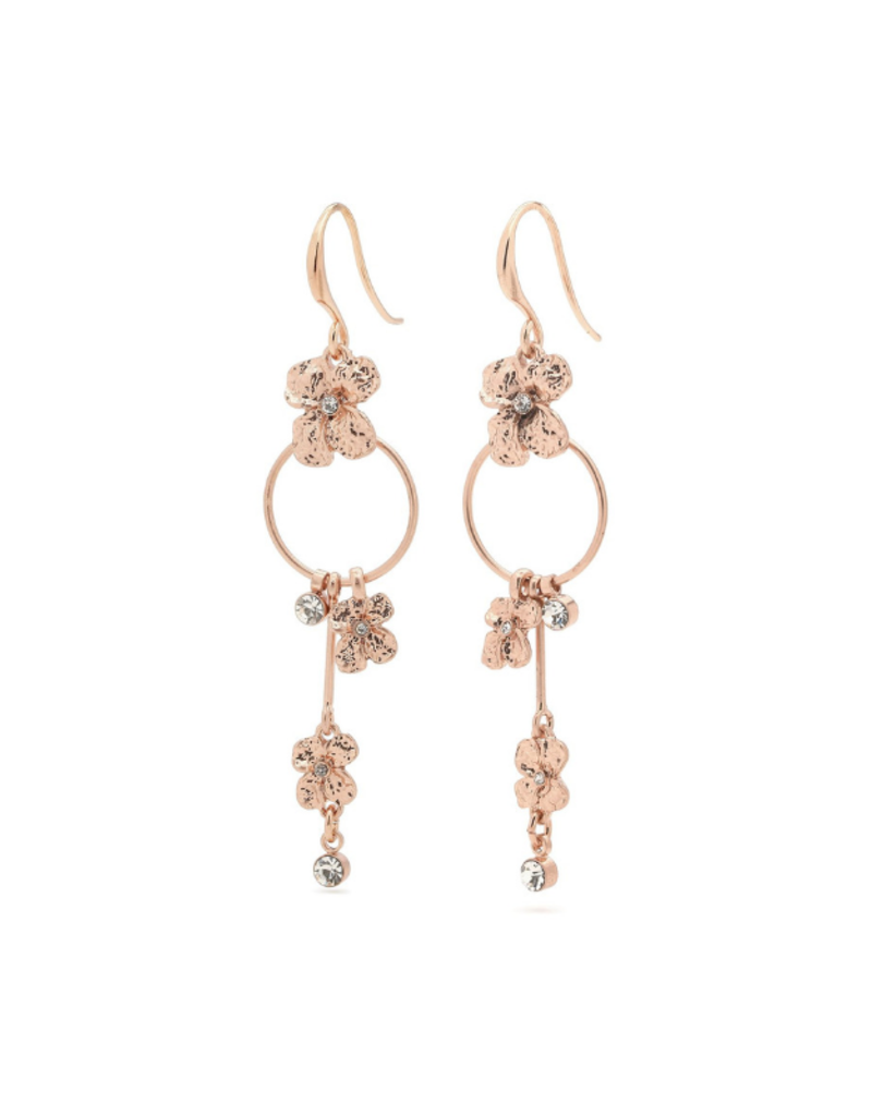 PILGRIM PILGRIM Justine Earrings Rose Gold Crystal