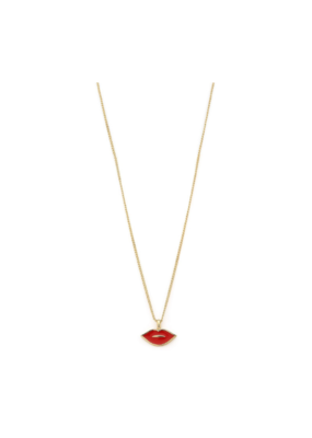 PILGRIM PILGRIM Necklace Thrill Gold Plated Red 131922301