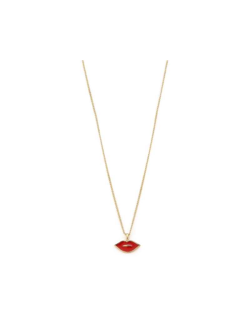PILGRIM PILGRIM Necklace Thrill Gold Plated Red 131922301