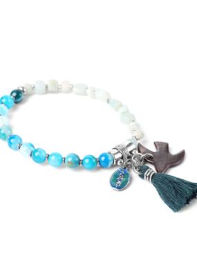 NATURE  Bracelet Les Duos Amazonite & Agate