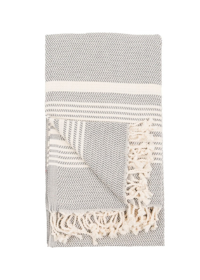 Hasir Turkish Body Towel - Slate