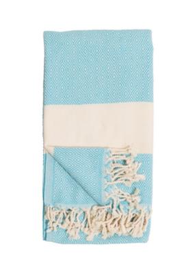 Diamond Turkish Body Towel - Aqua