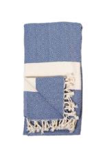 Diamond Turkish Body Towel - Navy