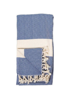 Diamond Turkish Body Towel - Navy