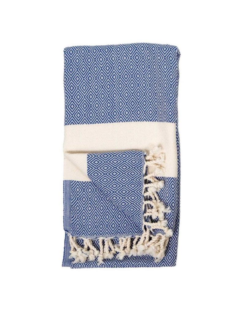 Pokoloko Diamond Turkish Body Towel - Navy