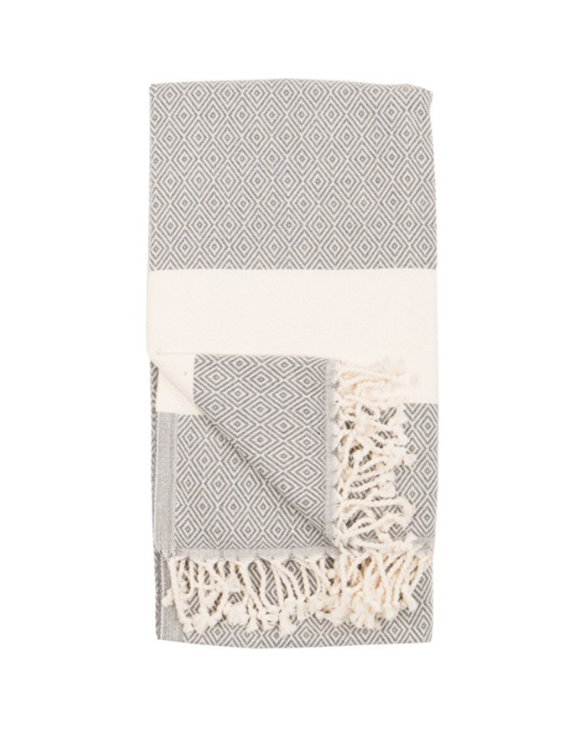 Diamond Turkish Body Towel - Slate