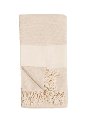 Diamond Turkish Body Towel - Cream