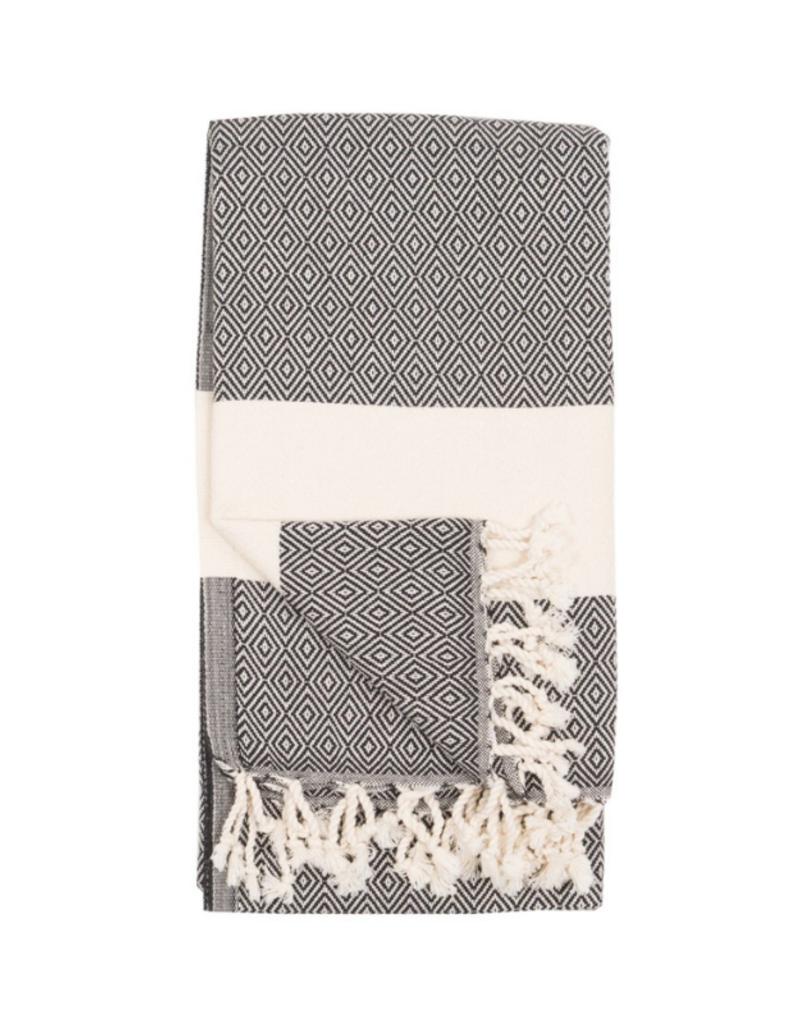 Pokoloko Diamond Turkish Body Towel - Carbon