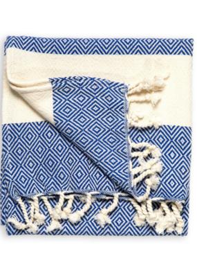 Pokoloko Diamond Turkish Hand Towel - Navy