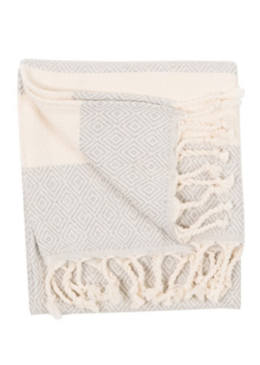 Diamond Turkish Hand Towel - Mist