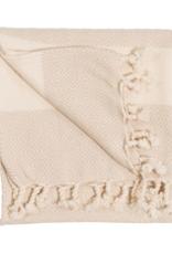 Diamond Turkish Hand Towel - Cream