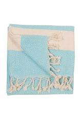 Diamond Turkish Hand Towel - Aqua