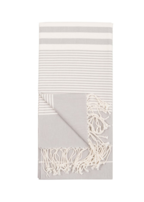 Harem Turkish Body Towel - Mist (Silver)
