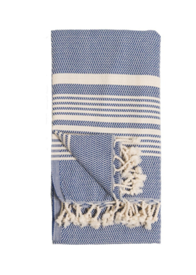 Hasir Turkish Body Towel - Navy