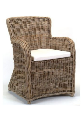 PRE-ORDER Falia Wicker Armchair with Cushion